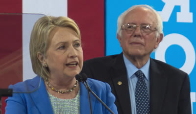 Bernie Sanders and Hillary Clinton debate 2016
